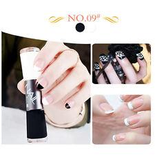 Dual-ended 14ml Liner Nail Polish Pen Black And White Liner Varnish Manicure #09