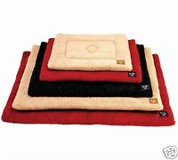 Dog Mattress Washable Thick Cage Crate Sherpa Pet Puppy Travel Mat Soft Fleece