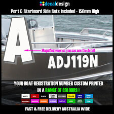 Boat Rego Numbers Decals EBay - Decals for boats australia