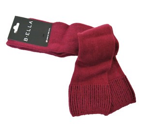 B. Ella Ladies Wool Cashmere Angora Blend Knee Socks Bette Deep Rose - NEW