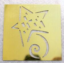 ALL NIGHT MEDIA Swirl, Star Brass Stencil NEW Airbush Scrapbook Emboss B9