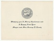 1920s MINNEAPOLIS MINNESOTA MAYOR George Leach CHRISTMAS CARD Political MILITARY