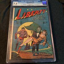 Liberty Comics #10 Green Publications 1945 BERNARD BAILY Cover CGC 7.5