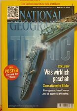 National Geographic April 2012 TITANIC Was echt geschah ! + Poster ! RARE