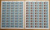 Bund 1172 - 1173 (50 mal) postfrisch Bogen Satz Sport Sporthilfe 1983 Mi.190 €