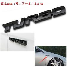 Black Car Auto Metal 3D Turbo Letter Emblem Badge Logo Sticker Fender Decal