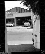 Garage voiture Volkswagen Audi Mercédes  - négatif photo ancien 35mm an. 1970