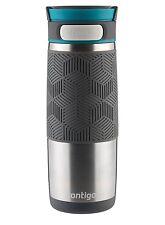 Contigo Autoseal Metra Travel Mug 16 oz Stainless Steel with Blue Accent Lid