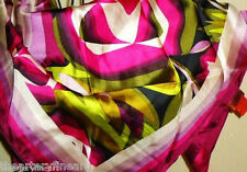 "MISSONI x Target Purple Passione Floral Scarf 100% Silk 28"" x 28"" Square **NEW**"