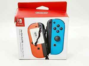 New Open Box Nintendo Switch Joy-Con L/R Controllers in Red/Blue -LH1187