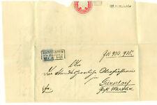 Frankenstein in Schlesien 23.4 1885 Letter with partial seal German States