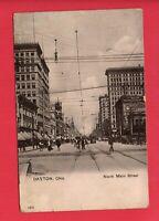 DAYTON OHIO MAIN ST SAVINGS & TRUST 1911  BASS BELLEFONTAINE OH  POSTCARD
