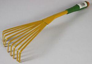 "Spring Rake Hand Garden Metal Tool Cultivator Lawn Sweeper Sturdy 16"" Farm New"