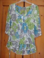 Marks & Spencer Per Una ladies three quarter length sleeve light blouse  Size 10