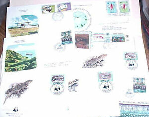 PORTUGAL  CABO VERDE  8 DIFF. FDC 1975-1986 CACHET 5  are UNADDRESSED