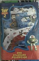 Toy Story Standard Pillowcase 2 Sided Woody Buzz Lightyear Bright Colors  NIP