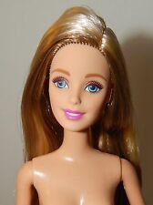 Barbie Doll Extra Long Hair Nude Doll Blonde With Golden Highlights