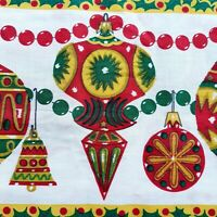 "Vintage Christmas Border Fabric Shiny Brite Ornaments 35 1/2"" x 244"" 6+ Yards"