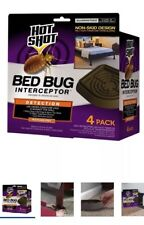 Bedbug Detection Trays - 4 Traps that Bedbugs can't crawl through - Clean Used