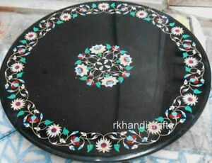 Marble Dining Table Top with Pietra Dura Art Restaurant Table Decent Look