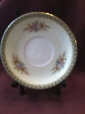3 Noritake floral china saucers,made in occupied Japan