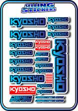 KYOSHO MODEL RC CAR DRONE BOAT BUGGY MINI Z STICKERS DECALS ROBOT R/C BLU/BLU B