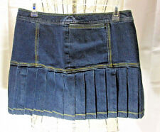 Identity By Lord And Taylor Skirt Blue Jean Pleated Size 6 New With Tag  NWT
