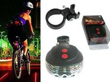 Lot3 Lamp Tail Light Rear Cycling Bike Safety Warning Colorful 2Laser+5 LED