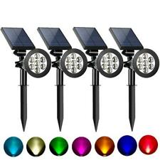4PCS Solar Power Outdoor Garden Lamp Spotlight Lawn Landscape Waterproof Lights