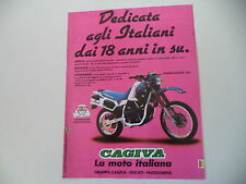 advertising Pubblicità 1986 MOTO CAGIVA ELEFANT 350