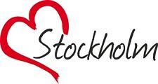 """Auto Aufkleber """" STOCKHOLM """" Sticker Stadt Schweden ca.8x16cm konturgeschnitten"""
