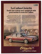1984 OLDSMOBILE Cutlass Ciera Vintage Original Print AD Brown car photo French