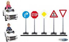 5-teiliges Verkehrzeichen Set für Kinderfahrzeuge Outdoor Verkehrsschilder 81 cm