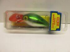 Vintage Storm Pre Rapala Magnum Wiggle Wart Met Green Scale Red Lip Deep Diver