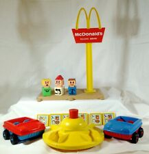 Playskool McDonalds Playset accessories 1974 / McD sign / merry-go-round / more!
