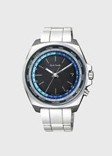 Paul Smith MEN'S CLOSED EYES WORLD TIME TT SOLAR POWERED WATCH BNIB