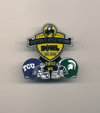 2012 Buffalo Wild Wings Bowl TCU vs Michigan State NCAA College Football Pin
