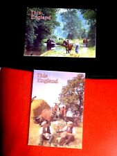 THIS ENGLAND GREETINGS CARDS PAIR CALDON CANAL STAFFORDSHIRE LUNCHTIME INTHE FIE