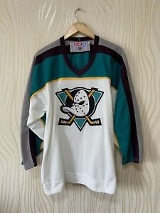 ANAHEIM MIGHTY DUCKS 90 s VINTAGE HOCKEY SHIRT JERSEY CCM