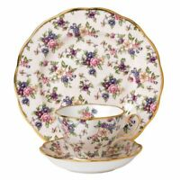 Royal Albert 100 Years Teacup,Saucer & Plate, Chintz