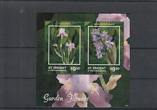 St Vincent & The Grenadines 2014 MNH Garden Flowers II 2v S/S Iris Hyacinth