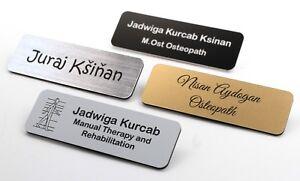 Personalised Premium Name Badge Staff ID Tag With Pin | Design Your Custom Badge