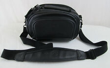 View Multi Pocket Vinyl Camcorder Camera Black Shoulder Carrying Case Bag 10x5x5