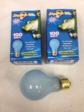 DayBrite 100W A19 Frost Neodymium Reptile Pet Full Spectrum Light Bulb 2pc