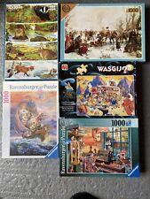 JOB LOT  Bundle X5 1000 Piece Jigsaw Puzzles