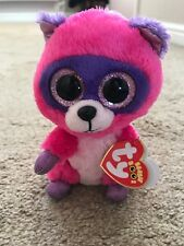 3a714dfef98 Ty Beanie Boos 6 € Roxie The Raccoon with pink eyes BNWT