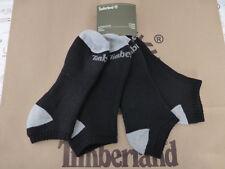 TIMBERLAND No Show Trainer Sock Mens Black 2/pk Cushion Sport Ankle Socks BNIP