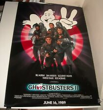 ROLLED 1989 GHOSTBUSTERS II ADVANCE MOVIE POSTER BILL MURRAY DAN AYKROYD COMEDY