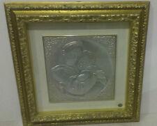 QUADRO IN ARGENTO MADONNA CON BIMBO 57,5x57,5 cm CON CERTIFICATO DI GARANZIA