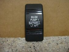 """Bilge Pump 1/Baitwell Lt Aft"" Switch Cover For Marine Switch Panels"